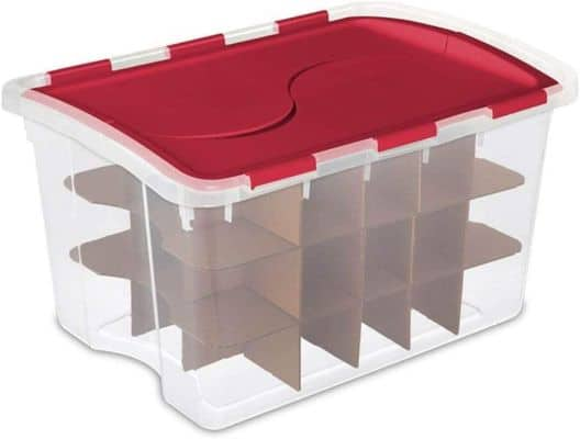 Sterilite 48 Quart Clear Stackable Holiday Christmas