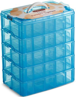 LifeSmart USA Stackable Storage Container Blue