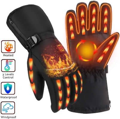OYRGCIK Heated Gloves, Winter Gloves