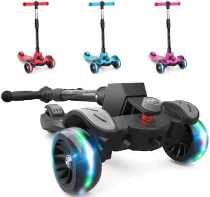 6KU Kids Kick Scooter with Adjustable Height Scooter