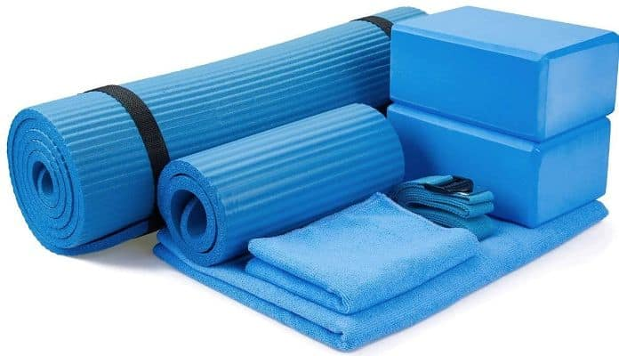 BalanceFrom GoYoga 7-Piece Set - Include Yoga Mat