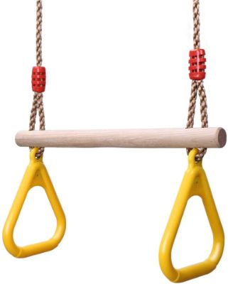 YOHOOLYO Children Trapeze Swing Bar with Rings