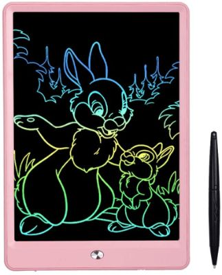 Anself LCD Writing Tablet 10 Inch Drawing Tablet for Kids, Colorful Screen Doodle Board and Kids Drawing