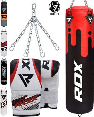 RDX Punching Bag UNFILLED Set Kick Boxing