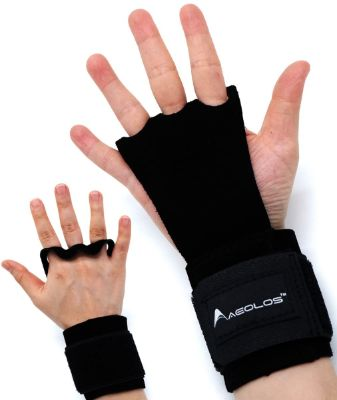 AEOLOS Leather Gymnastics Hand Grips-Great for Gymnastics, Pull up, Weight Lifting, Kettlebells