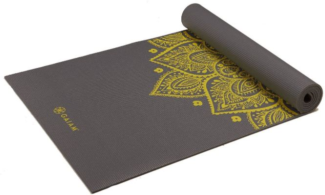 Gaiam Yoga Mat - Premium 6mm Print Extra Thick