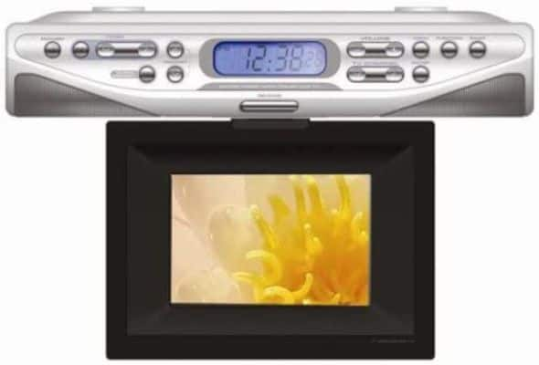 Curtis KCR2610 7-Inch Under Counter TV Clock Radio