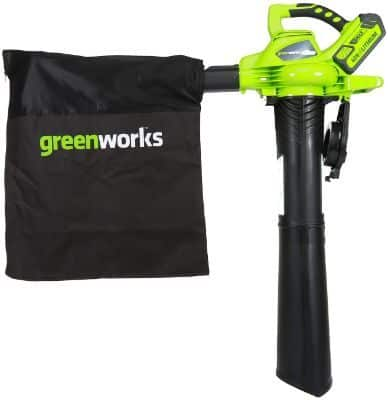 Greenworks 40V 185 MPH Variable Speed Cordless Blower Vacuum, 4.0 AH Battery