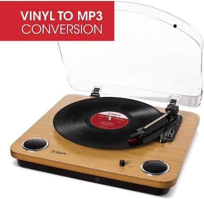 ION Audio Max LP – Vinyl Record Player with Built In Speakers, USB Output