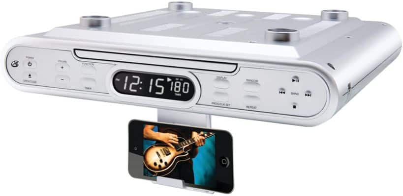 GPX KC232S Under Cabinet CD Player with AM-FM Radio