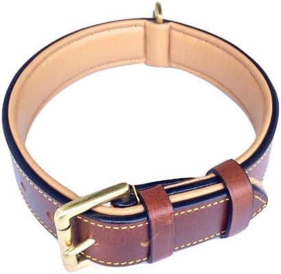Luxury Real Leather Dog Collar