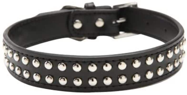 Real Split Leather Dog Collar With Studs