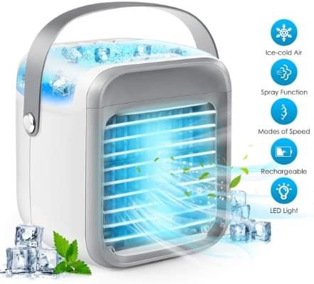 Portable Air Conditioner, 3-in-1 Personal Air Cooler Conditioner, Compact Evaporative Air Humidifier Cooler