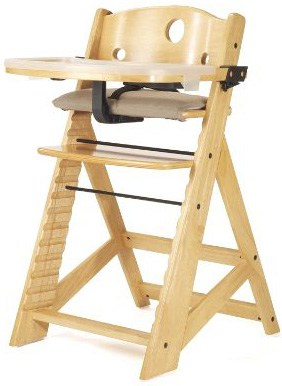 Wooden High Chair With Dishwasher Safe Tray
