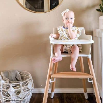 Wooden High Chair With Adjustable Legs