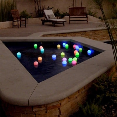 12 Mood Floating Led Light Glow Balls, 3-Inch Diameter, for Pools, Ponds, Spa, bathtub, - Color Changing LED