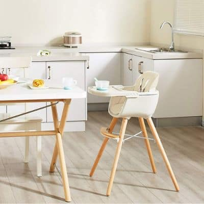 3-In-1 Conclusion Wooden High Chair