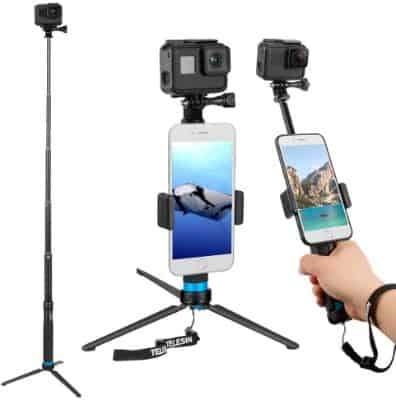 Waterproof GoPro Pole With Phone Holder