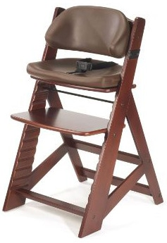 Wooden High Chair With Comfortable Cushion