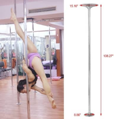 Portable Stainless Steel Fitness Pole For Home & Gym